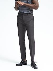 Slim Black Performance Wool Pant