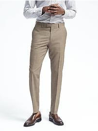 Slim Solid Performance Wool Dress Pant