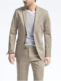 Slim Stretch Cotton Solid Suit Jacket