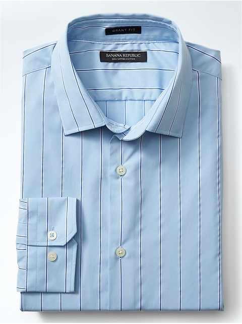 Grant-Fit Supima® Cotton Stripe Shirt