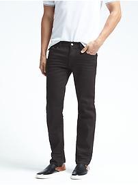 Straight Black Rinse Jean