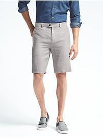 Aiden Slim Stripe Linen Short