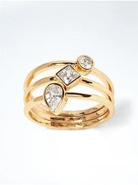 Delicate Mixed Shapes Stack Ring