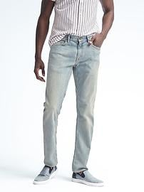 Slim Rapid Movement Denim Light Wash Jean