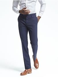 Slim Pinstripe Performance Wool Dress Pant