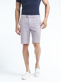 "Aiden Slim Seersucker Stripe 10"" Short"