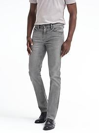 Straight Rapid Movement Denim Gray Wash Jean