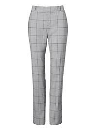 Ryan Slim Straight-Fit Windowpane Lightweight Wool Pant
