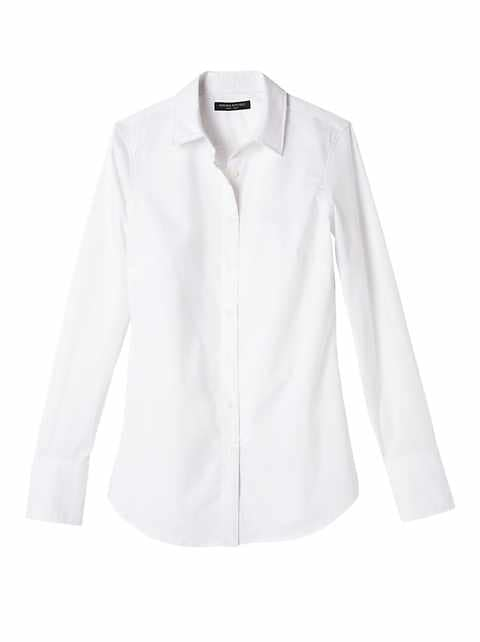 Petite Riley Tailored-Fit Super-Stretch Shirt