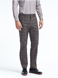 Standard Non-Iron Stretch Plaid Pant