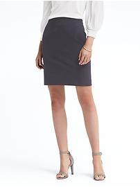 Paneled Bi-Stretch Pencil Skirt