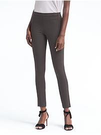 Devon Legging-Fit Machine-Washable Heathered Bi-Stretch Pant