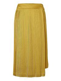 Banana Republic x Olivia Palermo | Pleated Wrap Skirt