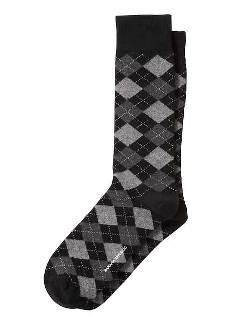 Chaussettes avec motifs en losange modernes