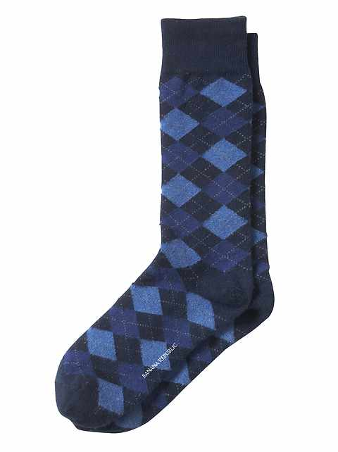 Modern Argyle Sock