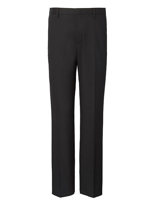 Slim Solid Non Iron Stretch Pant by Banana Repbulic