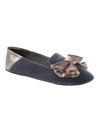 Velvet Slipper with Satin Bow