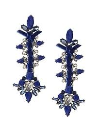 Encrusted Velvet Statement earring