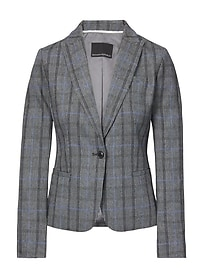 Classic-Fit Plaid Blazer