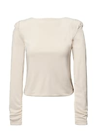 Heritage Rouched Mock-Neck Top