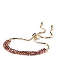 Bracelet à coulisse à chaîne ombré