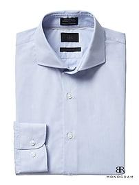 Monogram Grant Slim-Fit Italian Cotton Dress Shirt