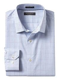 Chemise à damier extensible sans repassage coupe camden