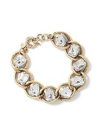Bracelet incrusté à maillons classique
