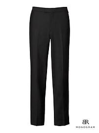 Standard Monogram Black Italian Wool-Mohair Tuxedo Trouser