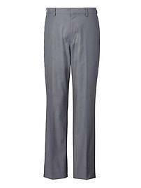 Pantalon pied-de-poule extensible sans repassage, coupe standard