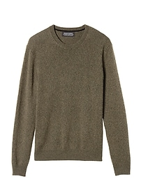 Todd & Duncan Cashmere Crew with Suede Elbow Patches