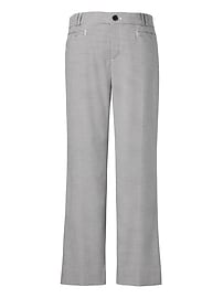 Logan Trouser-Fit Cropped Houndstooth Pant