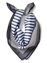 Stripe Medium Square Italian Silk Scarf