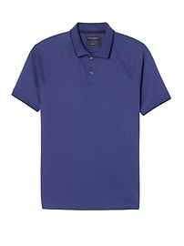Luxury-Touch Textured Tipped Polo