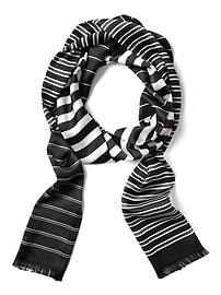 Stripe Long Skinny Scarf