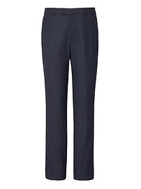 Slim Houndstooth Performance Stretch Wool Flannel Dress Pant