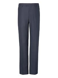 Pantalon habillé standard en mélange de flanelle et laine extensible Performance pied-de-poule