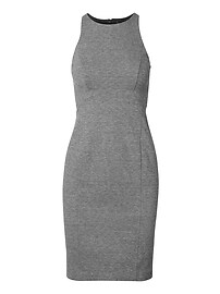 Paneled Ponte Sheath Dress