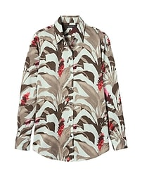Dillon-Fit Tropical Print Shirt
