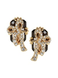Boucles d'oreilles présent orné de bijoux