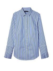 Riley-Fit Stripe Super-Stretch Pleated-Sleeve Shirt