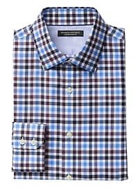 Grant Slim-Fit Non-Iron Stretch Check Shirt