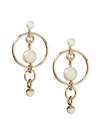 Modern Pearl Bauble Hoop