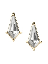 New Shape Stone Stud Earring