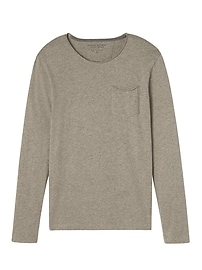 Soft-Wash Long-Sleeve Roll-Neck Crew