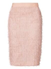 Eyelash Fringe Pencil Skirt
