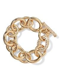 Bracelet à chaîne et pavé