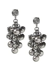 Boucles d'oreilles bronze à perles
