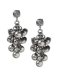 Gunmetal Pearl Earring