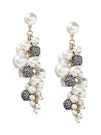 Fireball and Pearl Statement Earring